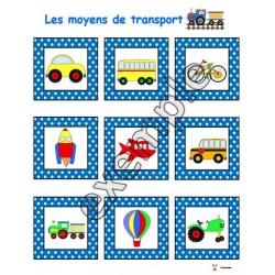 Jeu pour tout-petits: les moyens de transport