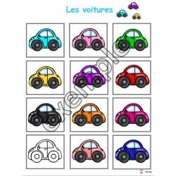 Jeu pour tout-petits: les voitures