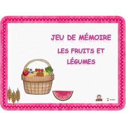 Jeu de mémoire des fruits et légumes