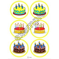 Jeu de mémoire: les gâteaux