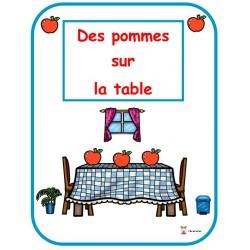 Des pommes sur la table