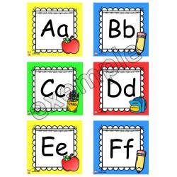 Les lettres de l'alphabet - début d'année