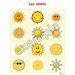 Jeu pour tout-petits: les soleils