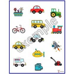 Compréhension des consignes: moyens de transport
