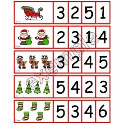 Noël: cartes à compter