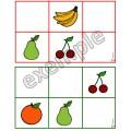 Alimentation: orientation spatiale (fruits)