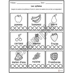 Alimentation: les syllabes