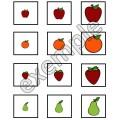 Alimentation: tableau à double entrée (fruits)