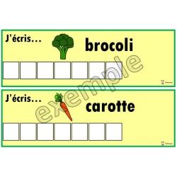 Alimentation: j'écris...les légumes