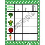 Alimentation: tableau à double entrée (légumes)