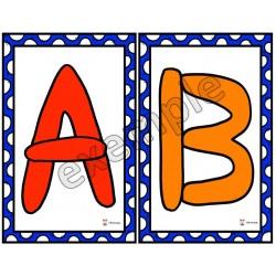 Pâte à modeler, lettres majuscules