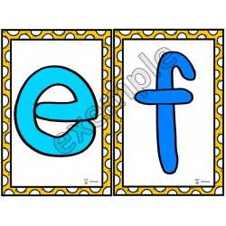 Pâte à modeler: lettres minuscules