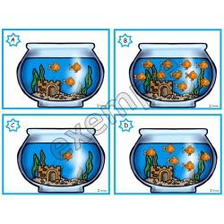 Les poissons dans l'aquarium