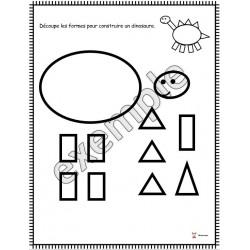 Formes: construire un dinosaure