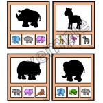 Animaux du zoo: ombres
