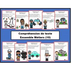 Ensemble: compréhension de texte (métiers)