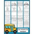 Transports: activités (papier-crayon)