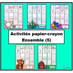 Ensemble: activités papier-crayon (5)