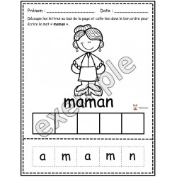 Fête des mères: activités (papier-crayon)