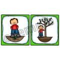 Histoire séquentielle: l'arbre (garçon)