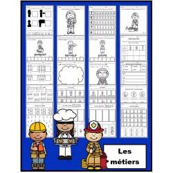 Les métiers: activités (papier-crayon)