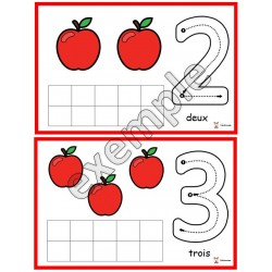 Pommes: chiffres de 0 à 10