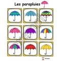 Jeu pour tout-petits: les parapluies