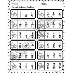 Les fractions: activités