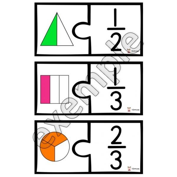 Les fractions: casse-têtes