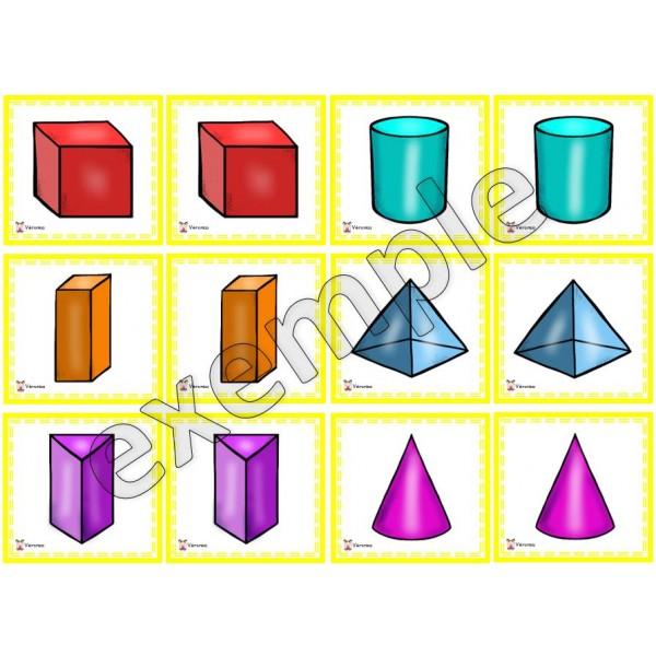 Formes 3D: jeu de mémoire #1