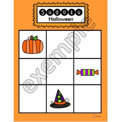 Halloween: sudoku (tout-petits)