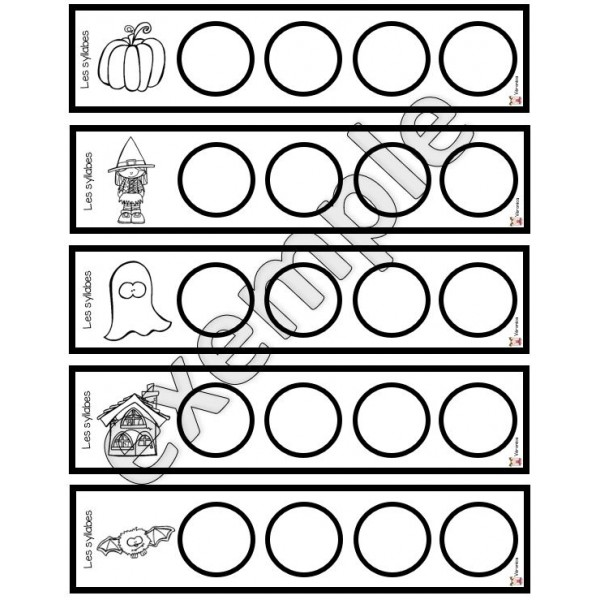 Halloween: tamponne les syllabes