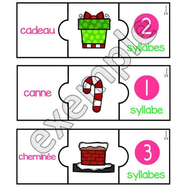 Noël: les syllabes