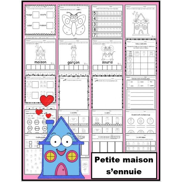 Petite maison s'ennuie: activités papier-crayon