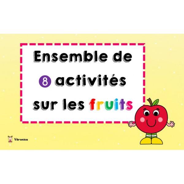 Fruits: ensemble d'activités