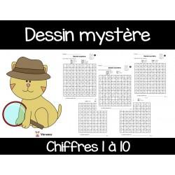 Dessin mystère (chiffres 1 à 10)