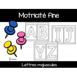 Motricité fine: lettres majuscules