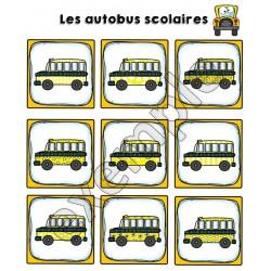 Jeu pour tout-petits: autobus scolaires