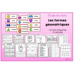 Étude de mots: formes géométriques