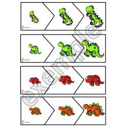 Dinosaures: petit-moyen-grand