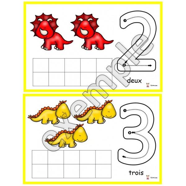 Dinosaures: chiffres de 0 à 10