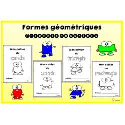 Formes géométriques: ensemble de cahiers