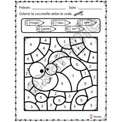Insectes et bestioles: colorie selon le code