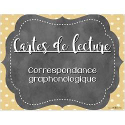 Cartes de lecture - Graphèmes-phonèmes