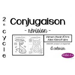 Activités à colorier (2) - Conjugaison - Révision
