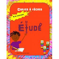 Études de mots, cartes à tâches