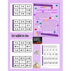 Bingo des additions et soustractions de Pâques