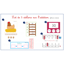 Lot de 5 ateliers sur l'addition