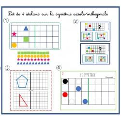 LOT de 4 ateliers sur la symétrie axiale
