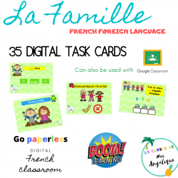 Family Famille French Boom cards